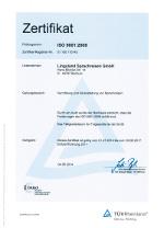 DIN ISO 9001 zertifiziert für reibungslose Abläufe